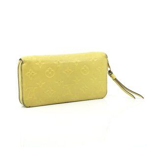 Auth Louis Vuitton Zippy Wallet Yellow #N4517V70
